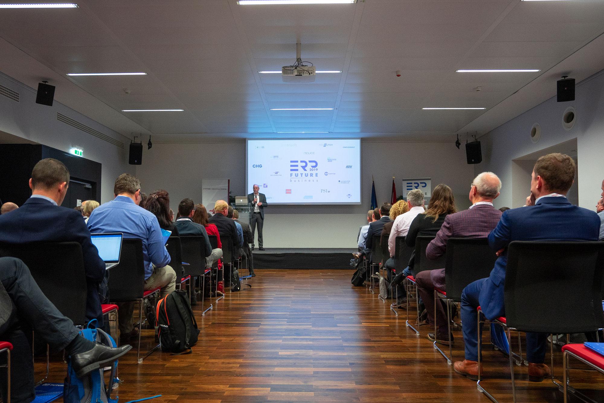 Begrüßung bei der ERP Future 2019